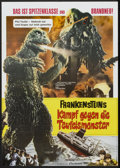 "Movie Posters:Science Fiction, Godzilla vs. the Smog Monster (Constantin-Film, 1972). German A1(23.25"" X 33""). Science Fiction.. ..."