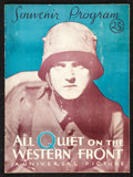 "Movie Posters:War, All Quiet on the Western Front (Universal, 1930). U.S. &British Programs (Multiple Pages) (9"" X 11.25"" & 9"" X 12"")& Heral... (Total: 3 Items)"