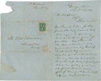 """Civil War Era Business Letter to T. W. House with Cover and Postage. One and one-half pages, 5"""" x 8.25"""", Decem..."""