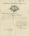 "Autographs:Statesmen, Civil War Oath of Amnesty Signed by County Clerk Louis Kessler. Onepage, 7.75"" x 9.75"", October 4, 1865, New Braunfels, Com..."