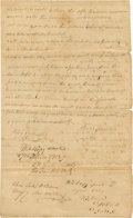 "Autographs:Statesmen, Republic of Texas: Benjamin Goodrich Legal Document Signed ""B.B. Goodrich"". Two pages, 7.75"" x 12.5"", February 27, 1839..."