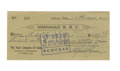 Autographs:Checks, 1951 Adolfo Luque Double Signed Check....