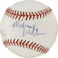 Autographs:Baseballs, Tony Kornheiser and Michael Wilbon Signed Baseball. Tony andMichael, co-hosts of ESPN's daily sports show, Pardon the Inte...