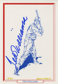 Baseball Collectibles:Others, Ted Williams Signed Limited Edition Art. Originally given as apremium to visitors of the Ted Williams Hitters Hall of Fame...