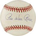 Autographs:Baseballs, Pee Wee Reese Single Signed Baseball. Possibly the best shortstopto ever play the game, Pee Wee Reese certainly set the ex...