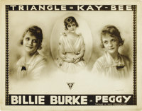 """Peggy (Triangle Kay-Bee, 1916). Title Lobby Card and Lobby Cards (2) (11"""" X 14""""). ... (Total: 3 Items)"""