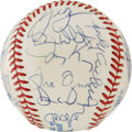 Autographs:Baseballs, 1993 AL All-Star Team Signed Baseball. A whopping 31 signaturescome to us here courtesy of the 1993 American League All-St...