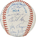 Autographs:Baseballs, 1990 AL All-Star Team Signed Baseball. Wrigley Field in Chicagoplayed host to the 1990 edition of Major League's All-Star ...