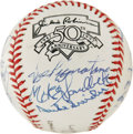 Autographs:Baseballs, Brooklyn Dodgers Signed Baseball-Sixteen Greats. Brooklyn DodgerGreats from the 40's and 50's such as Pee wee Reese, Ralph...
