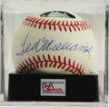 Autographs:Baseballs, Ted Williams Single Signed Baseball, PSA NM-MT 8. The Splinter'sHOF pen stroke booms across the sweet spot of the offered O...