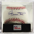 "Autographs:Baseballs, Willie Mays Single Signed Baseball, PSA Mint+ 9.5. Exquisite singlefrom Willie Mays guaranteed to make you say ""Hey!"" Ball ..."