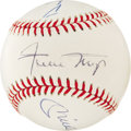 Autographs:Baseballs, Mickey Mantle, Willie Mays, and Duke Snider Signed Baseball. Threemembers of the Baseball Hall of Fame have graced this pr...