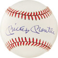 Autographs:Baseballs, Mickey Mantle Single Signed Baseball. Striking and beautiful is the only way to describe the superb 10/10 Mickey Mantle sig...