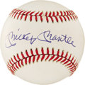 Autographs:Baseballs, Mickey Mantle Single Signed Baseball. Stunning and perfect in many a way, this superb single brings us a 10/10 Mickey Mantl...