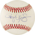 """Autographs:Baseballs, Roger Clemens Single Signed Baseball. Roger """"The Rocket"""" Clemensoffers a 10/10 signature on this OAL (Brown) baseball. The..."""