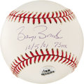 Autographs:Baseballs, Barry Bonds Single Signed Baseball. Barry Bonds signed on the sweetspot of this pristine ONL baseball. The home run season ...