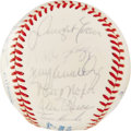 Autographs:Baseballs, 1987 AL All-Star Team Signed Baseball. Twenty-five members of theAmerican League All-Stars of 1987 bring us examples of th...
