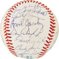 Autographs:Baseballs, 1986 AL All-Star Team Signed Baseball. Twenty-seven members of the'86 American League All-stars have made their way to the...