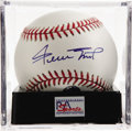 Autographs:Baseballs, Willie Mays Single Signed Baseball, PSA Mint+ 9.5. The Say Hey Kidgives us this OML ball adorned with an excellent sweet sp...