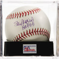 "Autographs:Baseballs, Stan Musial ""HOF 69"" Single Signed Baseball, PSA Gem Mint 10. Stanthe Man makes note of his induction date below a stunning..."