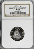 Proof Seated Quarters, 1886 25C PR63 NGC....