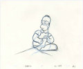 "Animation Art:Production Drawing, ""The Simpsons"" - Homer Simpson Animation Drawing Original Art,Group of 11 (Fox, 2005-06).... (Total: 12)"