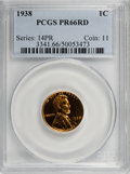Early Proof Sets, 1938 Proof Set PR65 to PR66 PCGS.... (Total: 5 coins)
