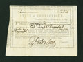 Colonial Notes:Connecticut, Connecticut Interest Certificate Extremely Fine....