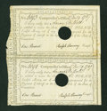Colonial Notes:Connecticut, Connecticut Interest Certificate Pair Very Fine....