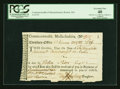 Colonial Notes:Massachusetts, Commonwealth of Massachusetts November 22, 1782 £56 Treasury TaxCollector's Certificate PCGS Extremely Fine 40, Hole Punch Ca...