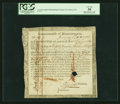 Colonial Notes:Massachusetts, Massachusetts Jan. 1, 1782 £8,13s,11d Six Percent TreasuryCertificate. PCGS Very Fine 30, HOC.. ...