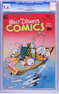 Golden Age (1938-1955):Cartoon Character, Walt Disney's Comics and Stories #93 (Dell, 1948) CGC NM+ 9.6Off-white pages....