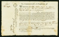 Colonial Notes:Pennsylvania, Commonwealth of Pennsylvania. 1794. Signed by Thomas Mifflin.Extremely Fine....