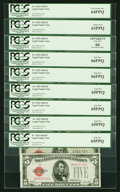 Small Size:Legal Tender Notes, Fr. 1525 $5 1928 Legal Tenders. Seventeen Examples. PCGS Graded.. ... (Total: 17 notes)