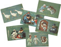 Political:Small Paper (1896-present), Woman's Suffrage: Complete Set of Six Ellam Postcards.... (Total: 6 Items)