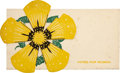 Political:Small Paper (1896-present), Woman's Suffrage: Votes for Women Die-Cut Daisy....