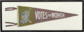 Political:Textile Display (1896-present), Woman's Suffrage: Women's Social Political Union Pennant. ...