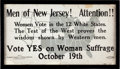 Political:Posters & Broadsides (1896-present), Woman's Suffrage: Poster....
