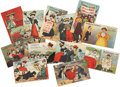Political:Small Paper (1896-present), Woman's Suffrage: Twelve Miller and Lang Postcards.... (Total: 12 Items)