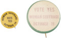 Political:Pinback Buttons (1896-present), Woman's Suffrage: Two New Jersey 1915 Referendum Pinback Buttons.... (Total: 2 Items)