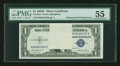 Error Notes:Obstruction Errors, Fr. 1614 $1 1935E Silver Certificate. PMG About Uncirculated 55.....