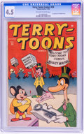 Golden Age (1938-1955):Funny Animal, Terry-Toons Comics #38 (Timely, 1945) CGC VG+ 4.5 Off-white towhite pages....
