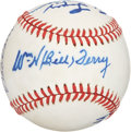Autographs:Baseballs, Baseball Hall of Famers Multi-Signed Baseball. ...