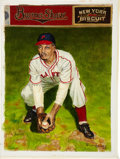 Baseball Collectibles:Others, Gene Benson Original Ron Lewis Painting....