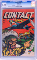 Golden Age (1938-1955):War, Contact Comics #7 (Aviation Press, 1945) CGC VG/FN 5.0 Off-white pages....