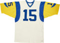 Football Collectibles:Uniforms, 1980 Jeff West Los Angeles Rams Game Used Jersey. ...
