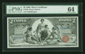 Large Size:Silver Certificates, Fr. 248 $2 1896 Silver Certificate PMG Choice Uncirculated 64....