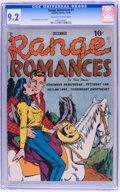 Golden Age (1938-1955):Romance, Range Romances #1 (Quality, 1949) CGC NM- 9.2 Off-white to white pages....