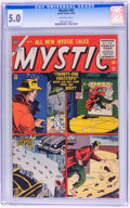 Golden Age (1938-1955):Horror, Mystic #39 (Atlas, 1955) CGC VG/FN 5.0 Off-white pages....