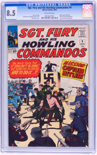 Sgt. Fury and His Howling Commandos #9 (Marvel, 1964) CGC VF+ 8.5 Off-white pages
